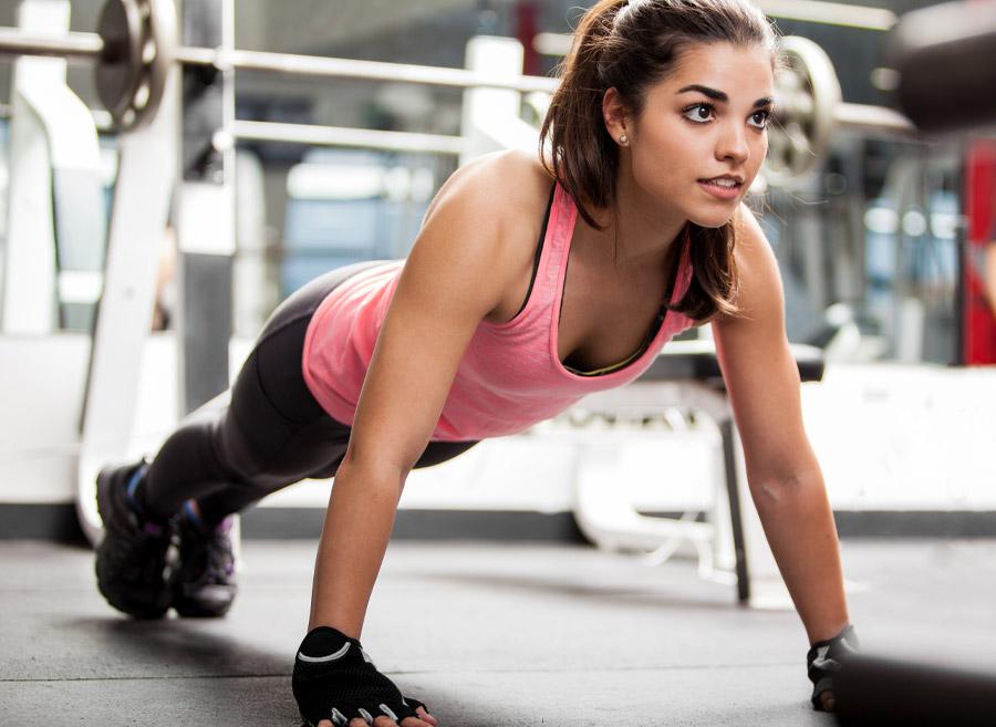 women doing push ups